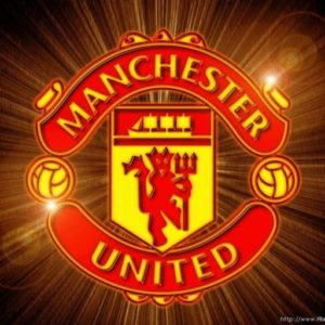 cropped fantastic manchester united football team logo wallpaper hd