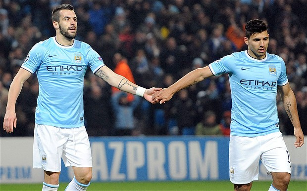 Negredo Aguero - Man City quadruple