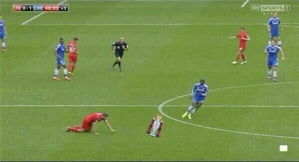Gerrard slip trophy Demba Ba