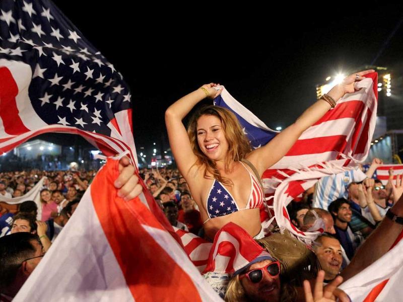 USA fans in Brazil