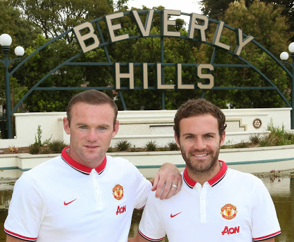 Rooney and Mata in Los Angeles