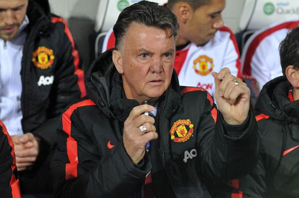 Louis van gaal clenched fists